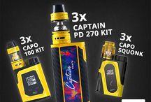 3 x Captain PD270 Kit, 3 x CAPO 100 Kit, 3 x CAPO Squonk IJOY Giveaway