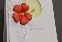 Cards, hibiscus