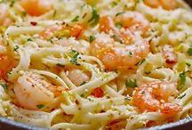 spagetti crevette ail