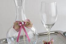Ποτήρια Καράφες Δίσκοι Γάμου, Σετ Γάμου / Ποτήρι Καράφα Δίσκος Γάμου, Σετ Γάμου, Αξεσουάρ Γάμου. Θα τα βρεις στο Asimenio.gr #pothri #karafa #diskos #gamos #accessories #καραφα #ποτηρι #δισκος #γαμου #γαμος