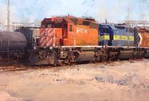 Paintings Urban Trains