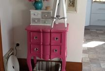 My passion for pink / Pink side cabinet