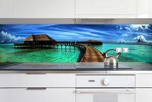 kitchen printed glass