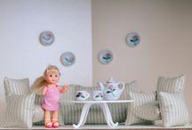 Мебель для кукол / Мебель из пряжи и ткани для кукольных домиков