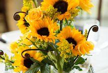 słoneczniki dekoracje wesele