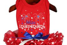 Fourth of July Designs / A collection of haute couture dog dresses for the very spoiled tiny breeds