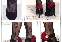 embellished, decorated shoes