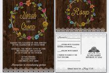 Wild flower wedding / Barn wedding with wild flowers and wood