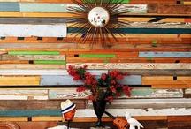 Repurposed wood wall / by Sonia Jimenez