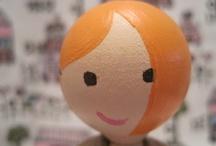 Peg dolls - family portrtaits