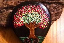 dot painting trees