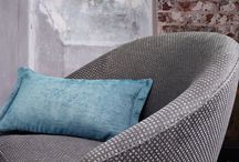 Tremont Collection by Romo / Five luxurious qualities feature in this new collection, including an eye-catching houndstooth, a herringbone chenille and three enticing small scale geometric designs. Offered in a spectacular range of jewel-like shades and classic neutrals, these authentic weaves are given a fashionable, contemporary feel and are destined to be a firm favourite.