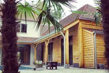 Eiken cottage in stapelbouw - eiken / instap stapelbouw model woningen duurzaam , passief ecologisch