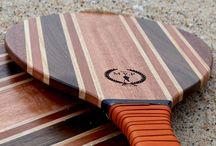 MVP Handmade Luxury Frescobol | Beach Bats / Designer Wooden Beach Frescobol paddles by The Modest Vintage Player