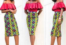 Pencil and Hobble skirt