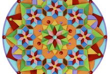 My Mandala Designs / I love creating colourful mandalas by hand and then formatting them in different ways for my online shops