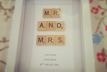 Wedding scrabble art