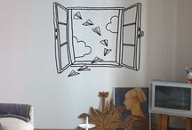 Wanddeko Fenster