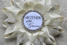 Bridal Shower Pins ~ Bachelorette Party Pins / Personalized bridal shower corsage pins.