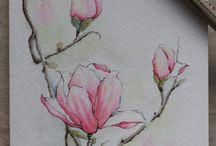 virágos festmények