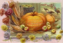 Thanksgiving Cards / These are some of the reproduction cards I make from vintage ephemera for use as Thanksgiving cards. / by KatyDids Cards