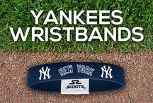 New York Yankees MLB Wristbands and Fan Gear / Shop for New York Yankees MLB wristbands and fan gear. Find your teams MLB bracelets and gear at Skootz! http://www.skootz.com/