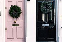 мои любимые  цвета. двери