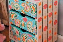 Decoracion con cajas de fruta