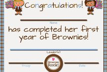 Girl Scout - Brownie Certificates