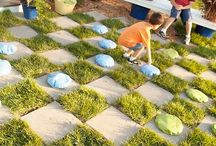Kids outdoor playscape