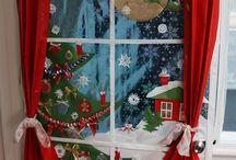 Ablak karácsony, kandalló