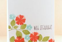 Cards...Floral Solid Stamps