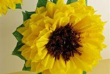 Big yellow paper flowers