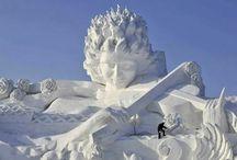 sculpturi in gheata