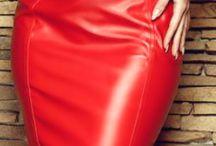 Vestido de couro