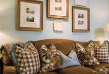 Living room  eclectic mix / by Deb For Blue House Boutique