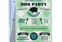 Corporate Barbecue Party Suite / Company BBQ event matching products customizable to your specifics.