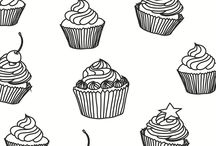 Cake And Cupcakes Coloring Pages
