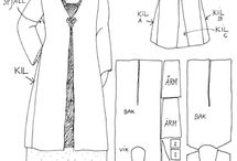 clothes patterns and how-to guides