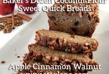 Sweet Quick Breads  (Coconut Flour Recipes) / Yummy coconut flour breads that are sweet and fruity. Baker's Dozen Coconut Flour Baked Goods Vol. 1.