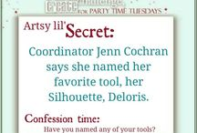 Artsy lil' Secrets / What is your Artsy lil' Secret? Here are some of ours from our Party Time Tuesdays Design Team Members. Shhh... don't tell!  You can find us at http://partytimetuesdays.blogspot.com/