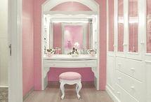 arredamento schabby rosa
