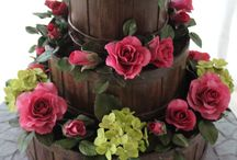flowers basket cake