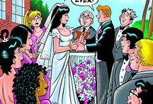 Wedding comics / Incluso los loco por los comics se casan y tienen novias; para todos ellos y ellas les dedico este tablero. Todas las imágenes proceden de buscar con Google y desconozco si tienen derechos de autor