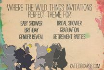 Collaborative Board: Where the Wild Things / There is a Wild Thing in all of us! Let's celebrate with one of the most adorable party themes!   This board features a wide range of card themes, colors, and ideas all focused on wild things parties Shoot me a message if you are an Etsy invite designer and would like to contribute to this and future boards