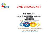 Pope Francis in Israel - Media