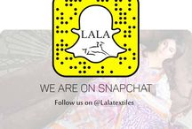 SNAP-CHAT / Shopaholic! are ready for the best shopping experience ever? Get exclusive sneak peek at our winter 2015 campaign being shot. Follow us on snap-chat @lalatextiles