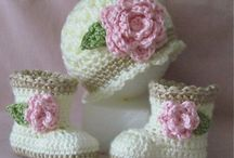 Baby Boots & Slippers. Crochet & Knitting