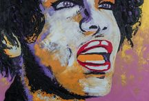 Portrait / Friends, love and much more... My Art Whitney Houston, portrait, my diva oil on canvas