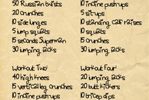 workout plan(s) / by Renelle Renee